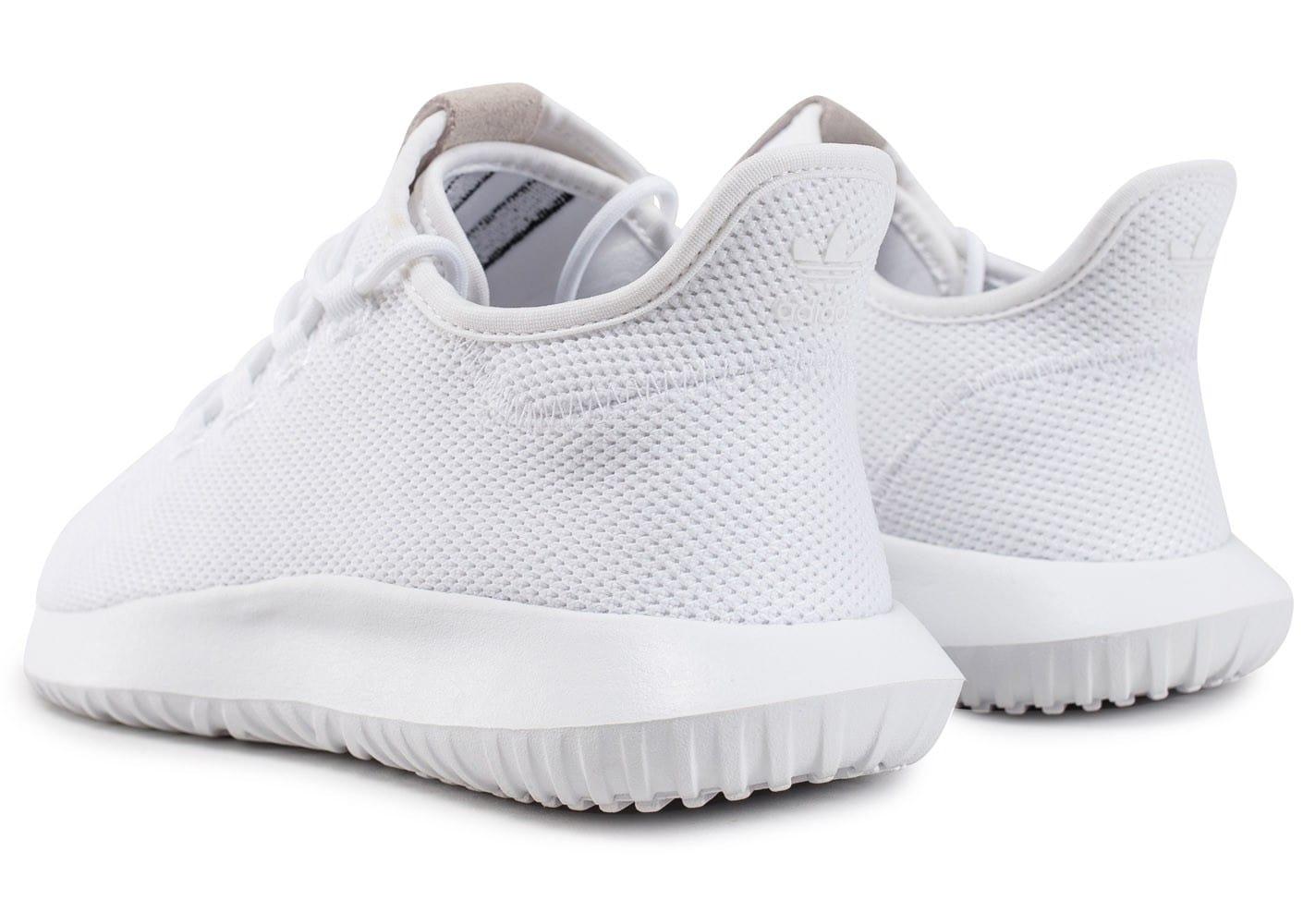 chaussure adidas tubular shadow blanche