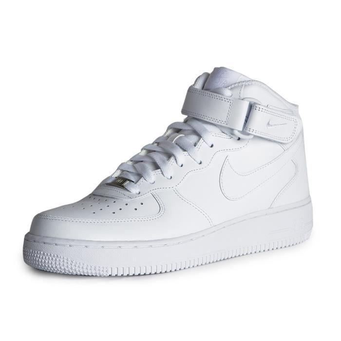 chaussure nike air force 1 femme blanche et noir