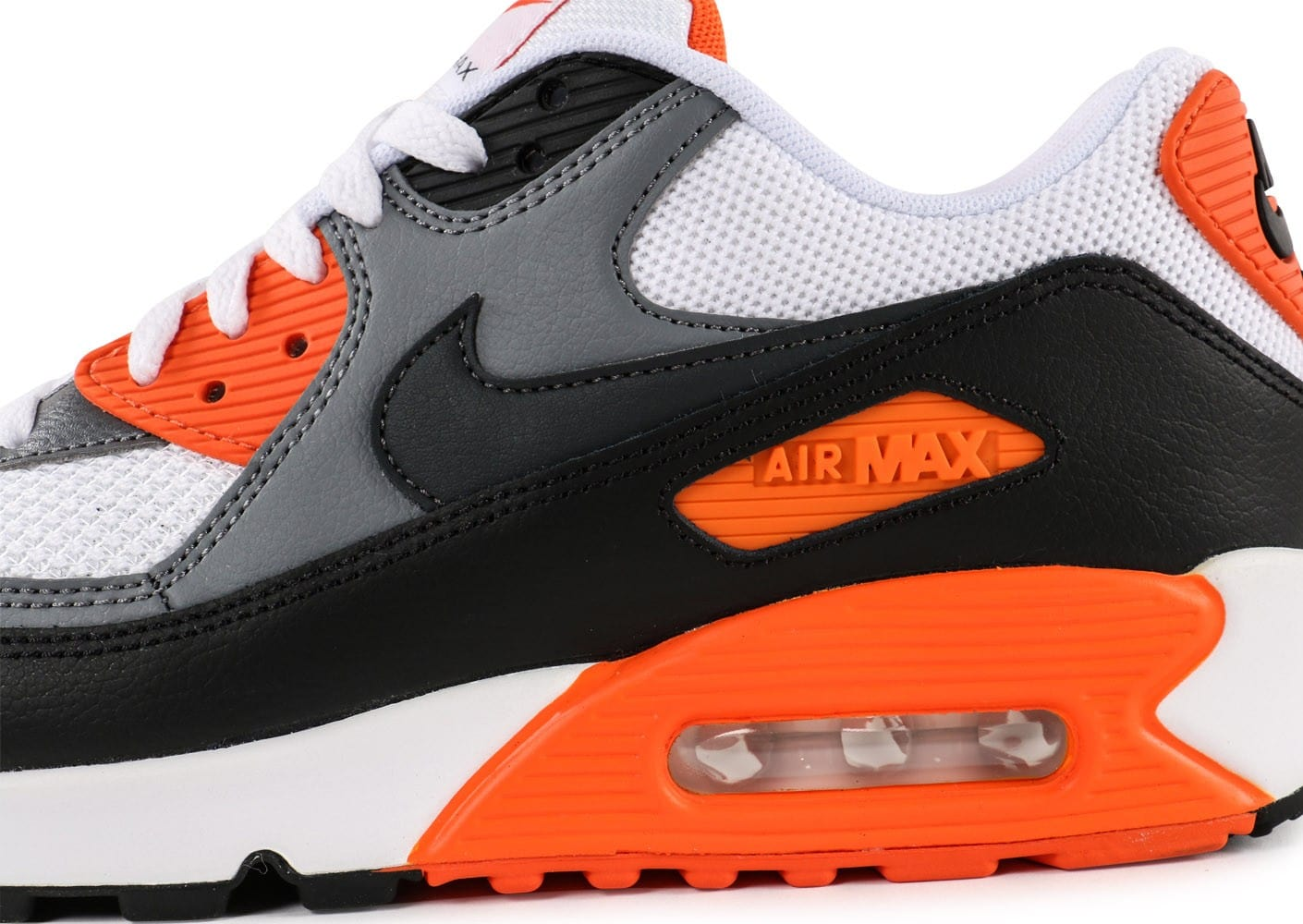 air max 90 noir orange