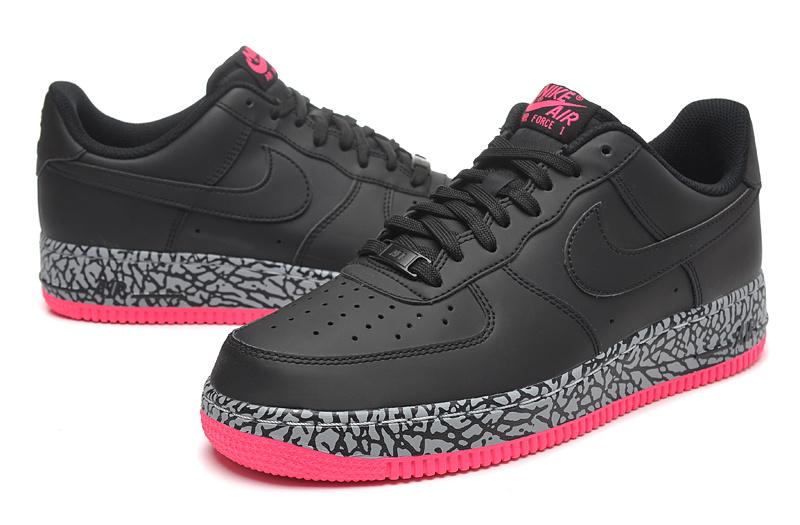 air force 1 noir et rose