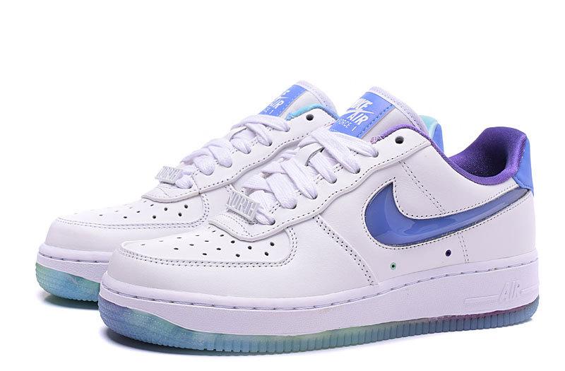 air force 1 femme blanche et bleu
