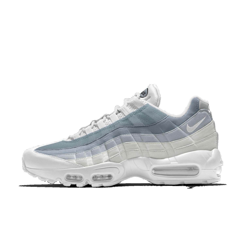 nike air max 95 bleu et blanche pour femme,Femme Nike Air Max 95 Bleu Blanc