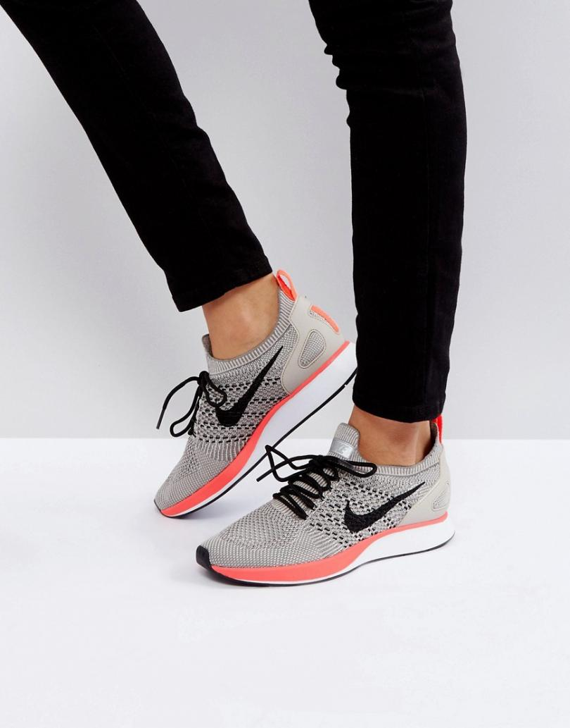 nike flyknit racer femme gris,Multi - Nike Zoom Mariah Flyknit Racer  Premium Baskets Gris Et